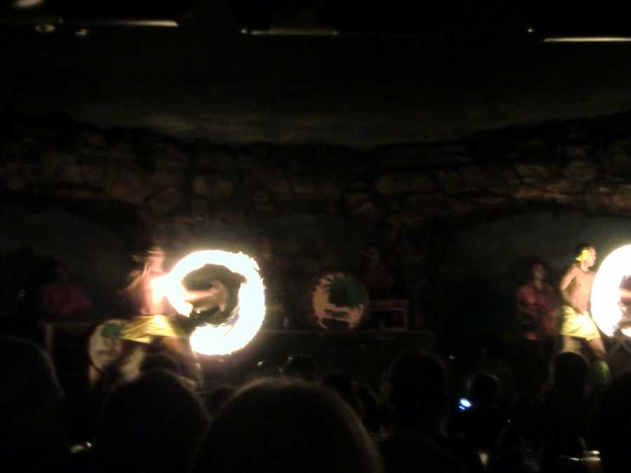 Fire dancers make the Luau in Maui very exciting and entertaining.