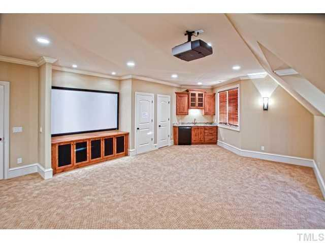 Home Theater includes a Wet Bar