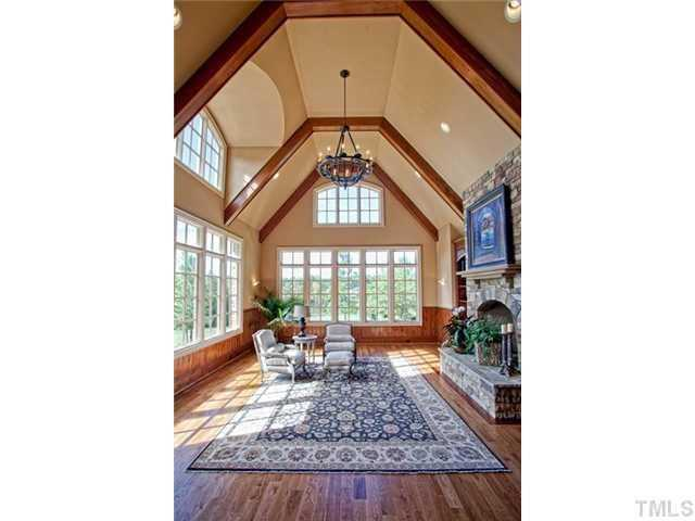 Two-story cathedral ceiling Great Room with fireplace