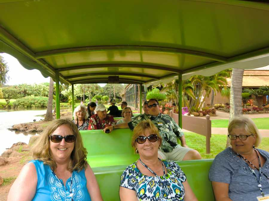 Here are some of the group enjoying the sights from the tram.