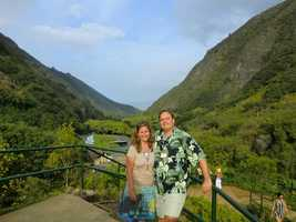 Austin and Angela in the Iao Valley State Park.