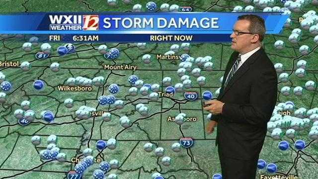Storm reports graphic from Brian Slocum