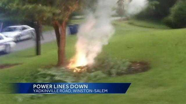 Power lines down