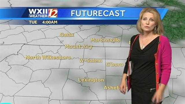 Now, let's check the futurecast images starting at 4 a.m. Tuesday.