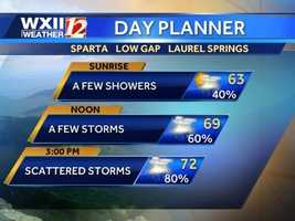 Mountains day planner.