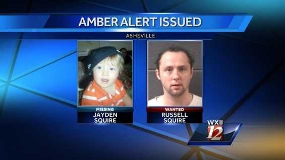 An Amber Alert has been issued for a child who was reported missing in Asheville.Police say 16-month-old Jayden Wilson Squire was last seen with Russell Allen Wilson Squire at the Thunderbird Motel in Asheville.