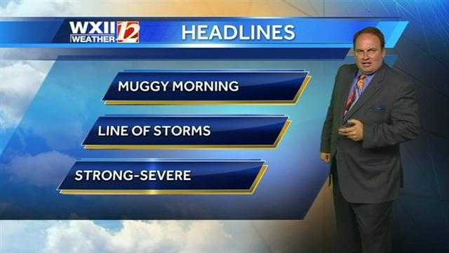 There could be strong storms today in the WXII viewing area. Check the hourly futurecast slides now with Austin.