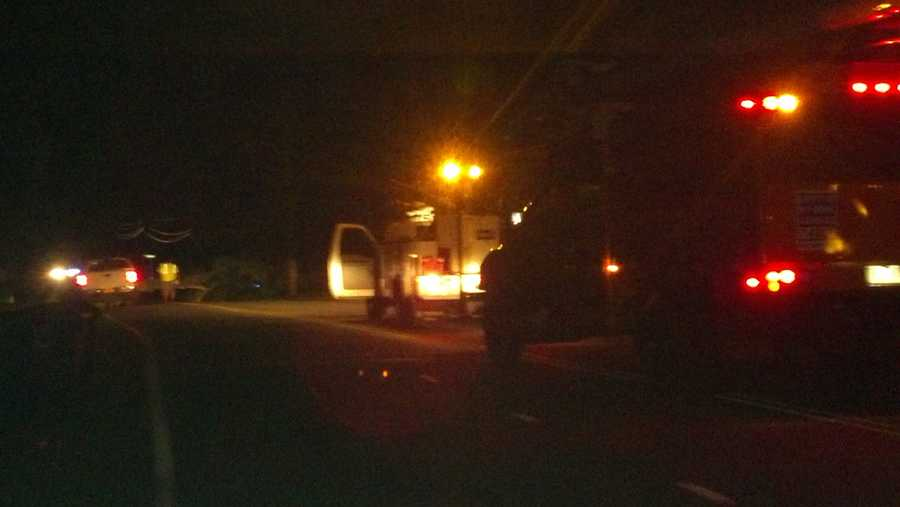 Some roads are closed and power is out after some trees fell Monday evening in Greensboro.