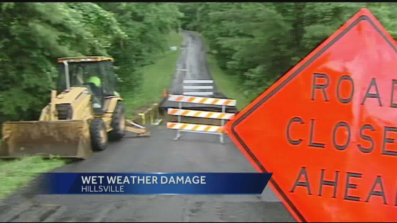 Hillsville road damage