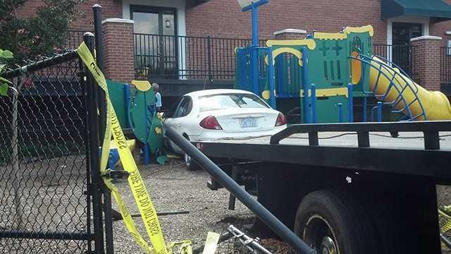 Car crashes into Arts Based School in Winston-Salem