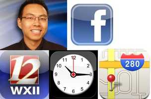 Rob's Favorite apps:Clock: Three fundamental types of clocks with iPod music alarm and world clock.WXII: Carry WXII 12 with you wherever you go and connect to local news.Maps:Facebook: Check your Facebook on your mobile device.
