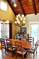 Dining Room with beam ceiling
