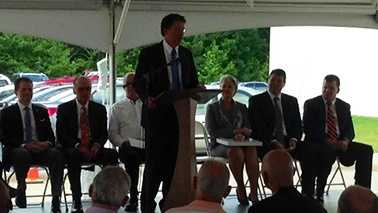 Gov. Pat McCrory at Wright Foods jobs announcement