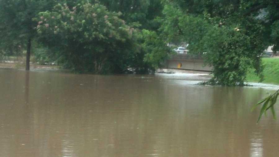 Latham Park flooding (thanks, WXII's Michael Brock)