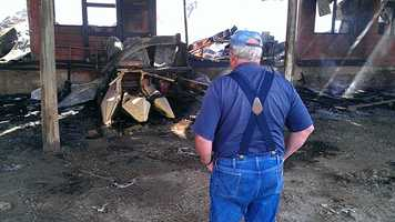 The farmer who owns the barn said he lost about $100,000 worth of equipment.
