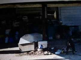 Photo of Skyes living conditions back in February