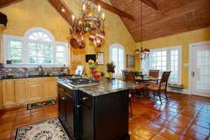 Gourmet Kitchen with cathedral ceiling