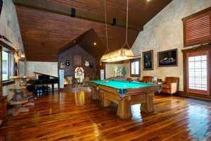 Billiard Area located in the Party Barn