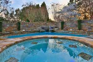 Salt-Water Swimming Pool with custom-built Hot Tub