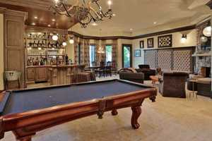 Billiard Area and a full Bar