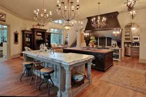 Gourmet Kitchen with double island