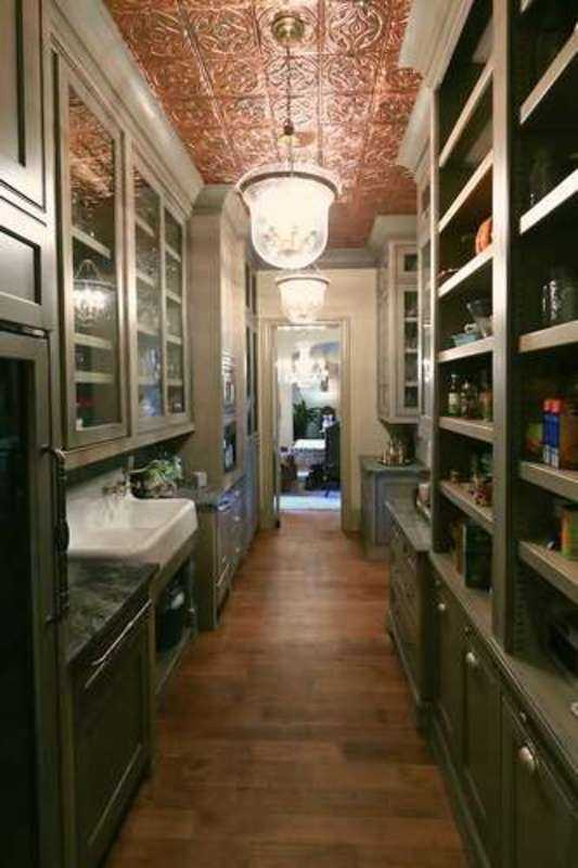 Gourmet Kitchen with tin ceiling and an open pantry