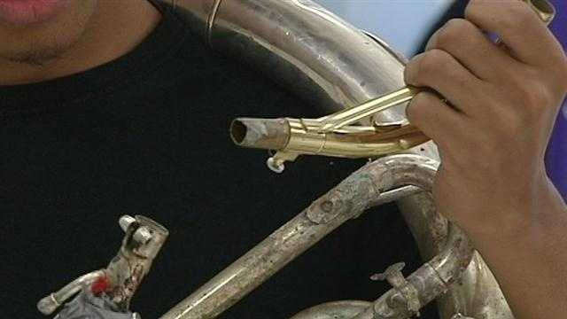 Being hit hard by budget cuts the Carver High School Marching Band is turning to the community for help&#x3B; WXII's Margaret Johnson explains how bad the need is for new instruments.