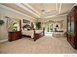 Master Bedroom with trey ceiling
