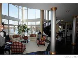 Great Room with beautiful views of Lake Norman