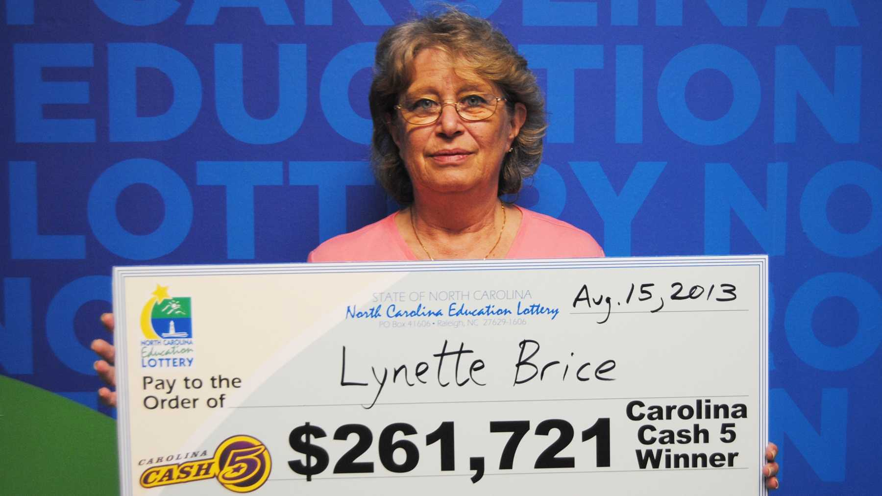 Lynette Brice (photo from North Carolina Education Lottery)