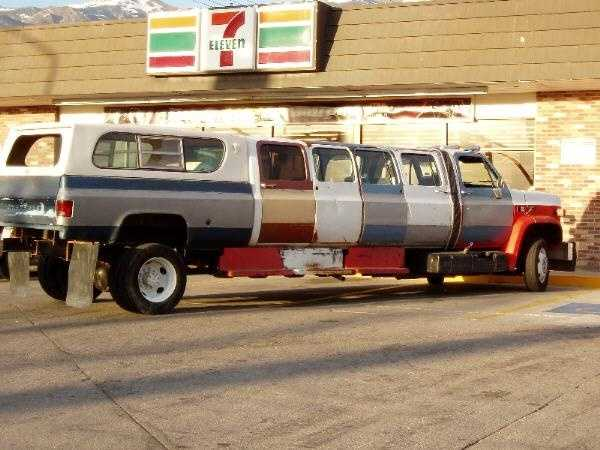 This unique Redneck Wedding Themed Limo could take the entire wedding party and guests back and forth to events on the wedding day.
