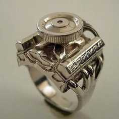 If your man loves the cars, then this would be his perfect wedding band.