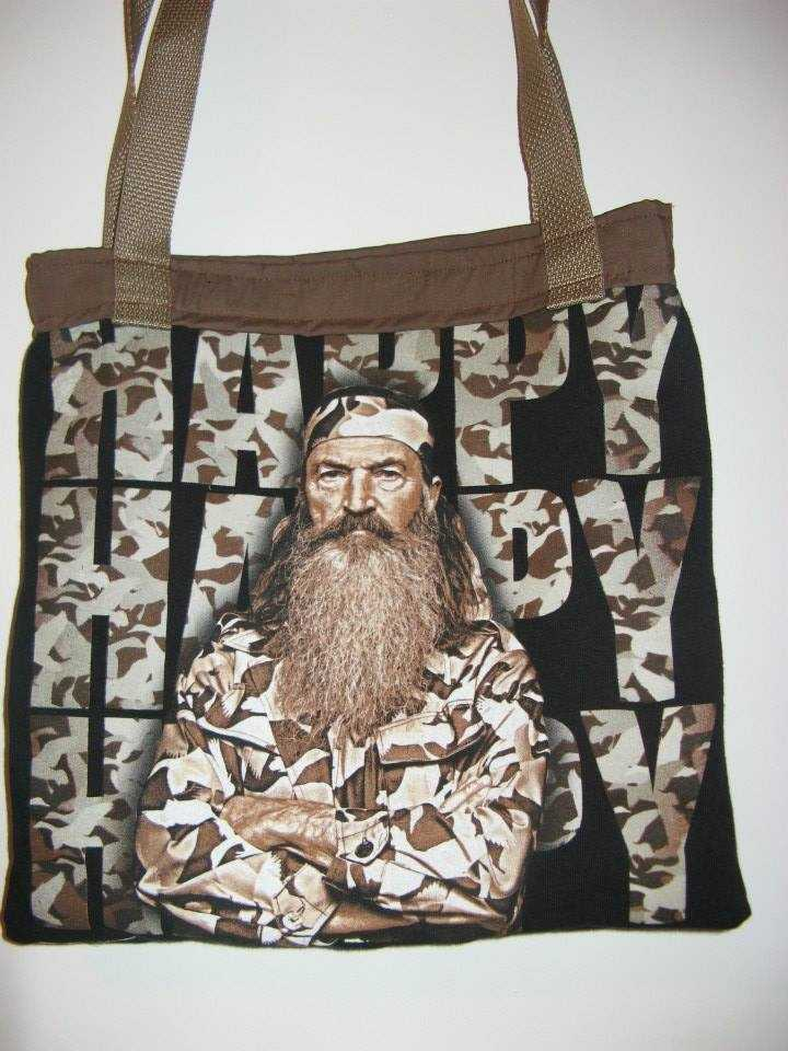 "The guys might enjoy these gift bags with ""Duck Dynasty"" photos. Fill them for the day after the wedding festivities with aspirin, gator aid, hot sauce and Alka-Seltzer Morning Relief. (The Hags Bags)"