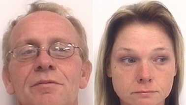 Robert Camp, left, and Tracy Hughes, right