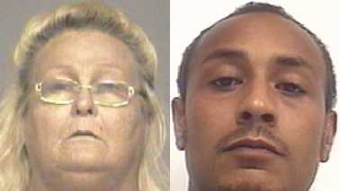 Judy Frazier, left, and Jerome Garrett, right
