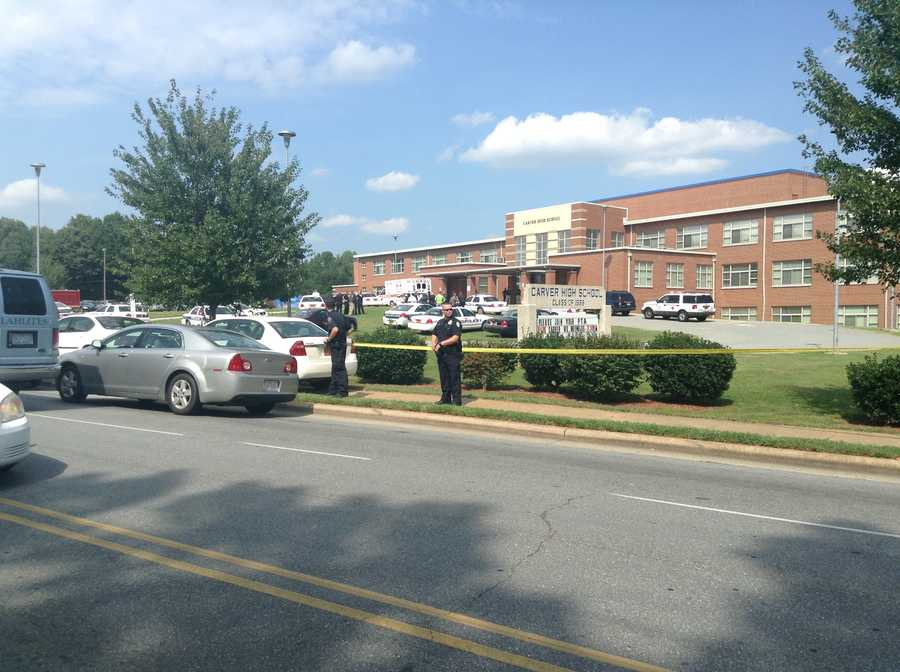 Winston-Salem police are still investigating the Friday afternoon shooting at Carver High School.