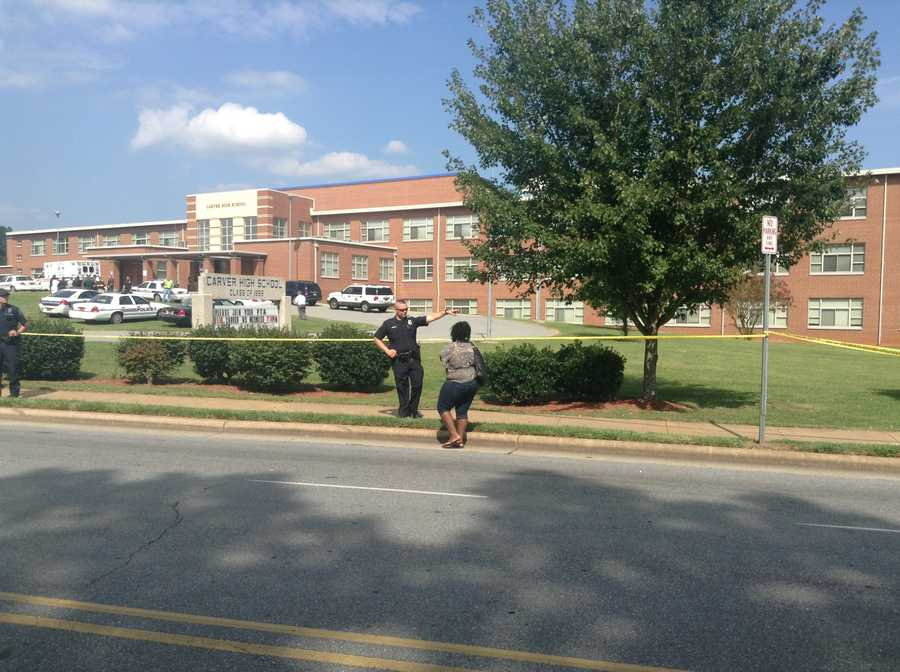The shooting happened about 2:45 p.m. The school was placed on lock down, but police said students were safe.