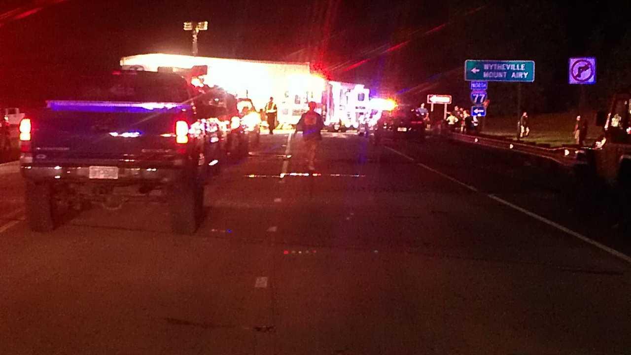 Motorcyclist injured in Elkin crash