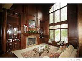 Formal Living Room with two-story ceiling