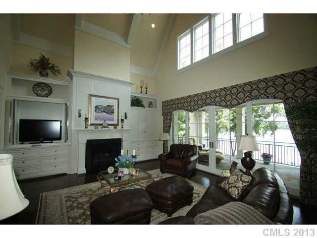 Two-Story Great Room with cathedral beamed ceiling