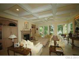 Morning Room with coffered ceiling