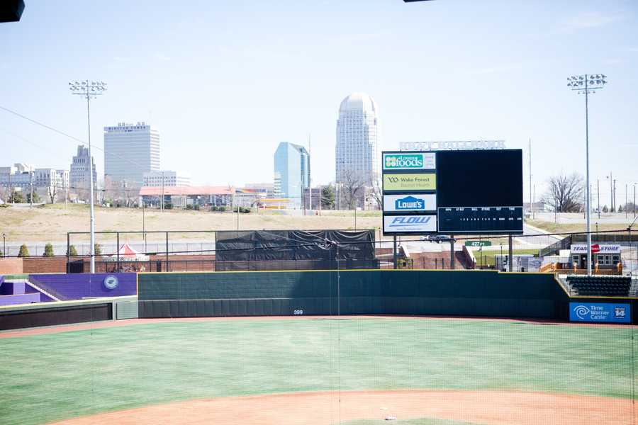 What a beautiful view for your wedding photos or engagement photo session for a sports themed wedding.