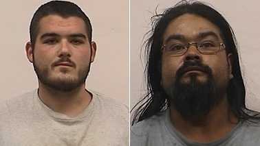 Jonathan Evans, left, and Jose Lopez, right