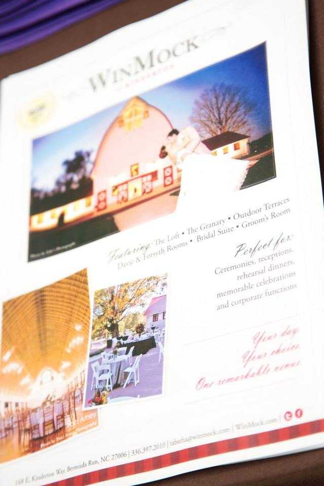 The Perfect Wedding Guide Triad/Triangle Bridal Show brochure of vendors at WinMock at Kinderton. (Billie Buskirk Photography.com)