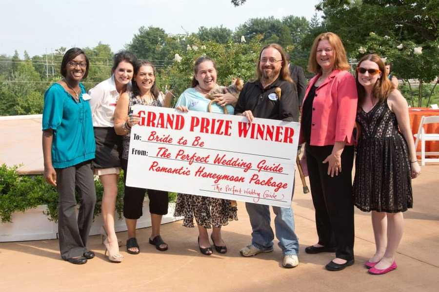 The couple in the center won the grand prize, a romantic honeymoon package! (Billie Buskirk Photography.com)