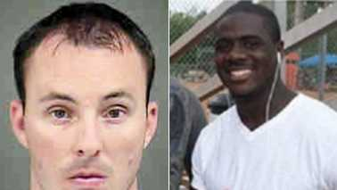 Ofc. Randall Kerrick, left, and Jonathan Ferrell, right