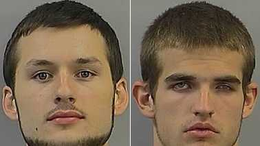 Ryan Mullins, left, and Matthew Olson, right