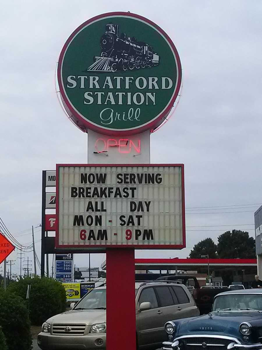 They now serve breakfast!