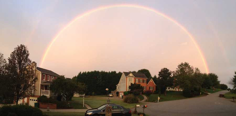Check out some beautiful Forsyth County rainbow images sent to us Wednesday by WXII 'u local' users. You can also upload your photo.