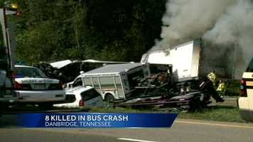 Six of the deaths were on the bus, and each of the other two deaths were in an SUV and a tractor-trailer, officials from the Tennessee Department of Safety and Homeland Security told WXII.